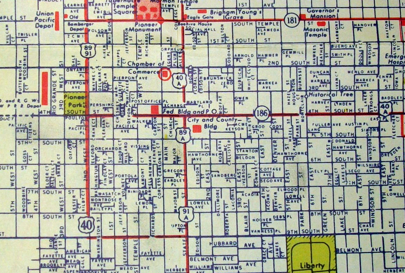 Old Maps American Cities In Decades Past WarningLarge Images - Salt lake city map of us