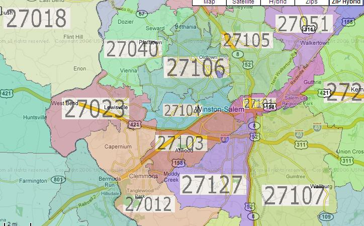 how far of a drive Greensboro WinstonSalem High Point North