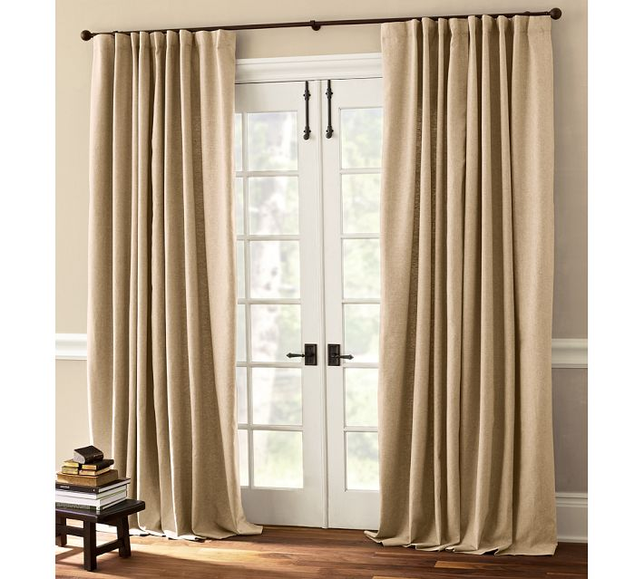 What Window Treatment For Patio Sliding Door? Drape ...