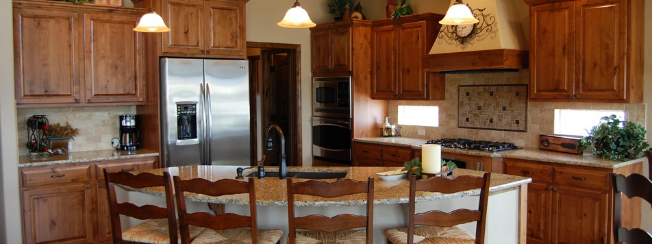 1000 images about for the home on pinterest log homes for Alder kitchen cabinets