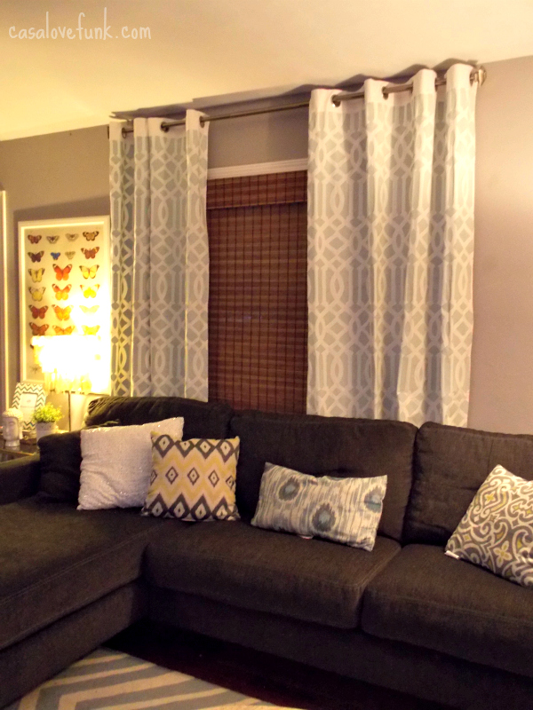 what color curtain goes with dark brown furniture 1 wall