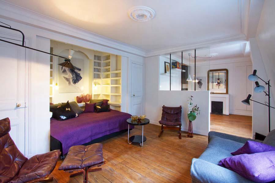 Studio makeover please help wood flooring drapes paint - Studio apartment paint ideas ...