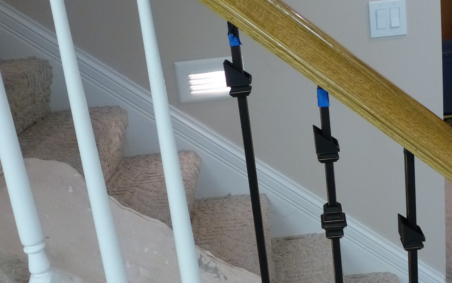 Merveilleux Replacing Wooden Stair Balusters (Spindles) With Wrought Iron P1010278  ...