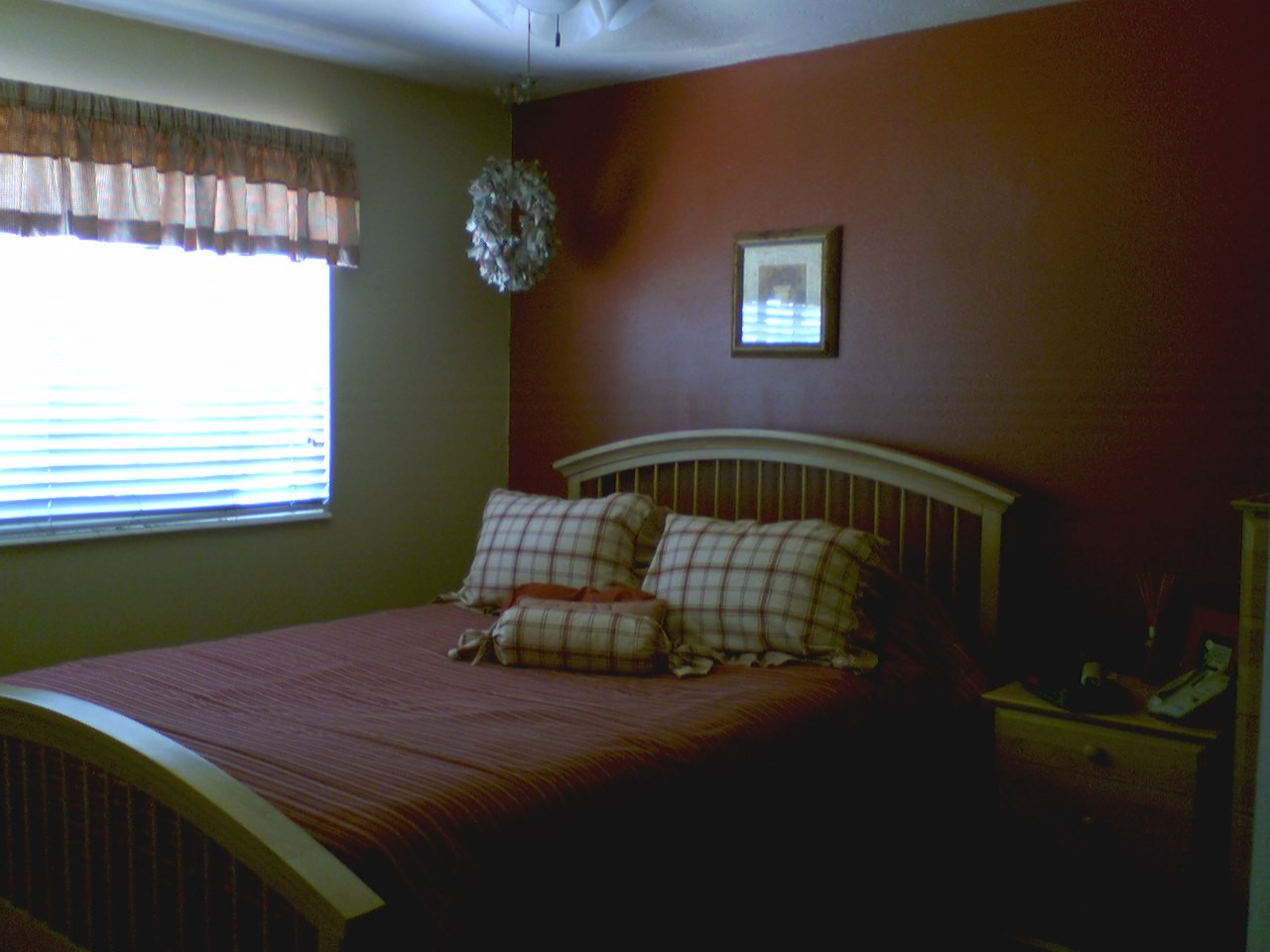 Pics Of Red Rooms (painted, Wainscot, Color, Door)