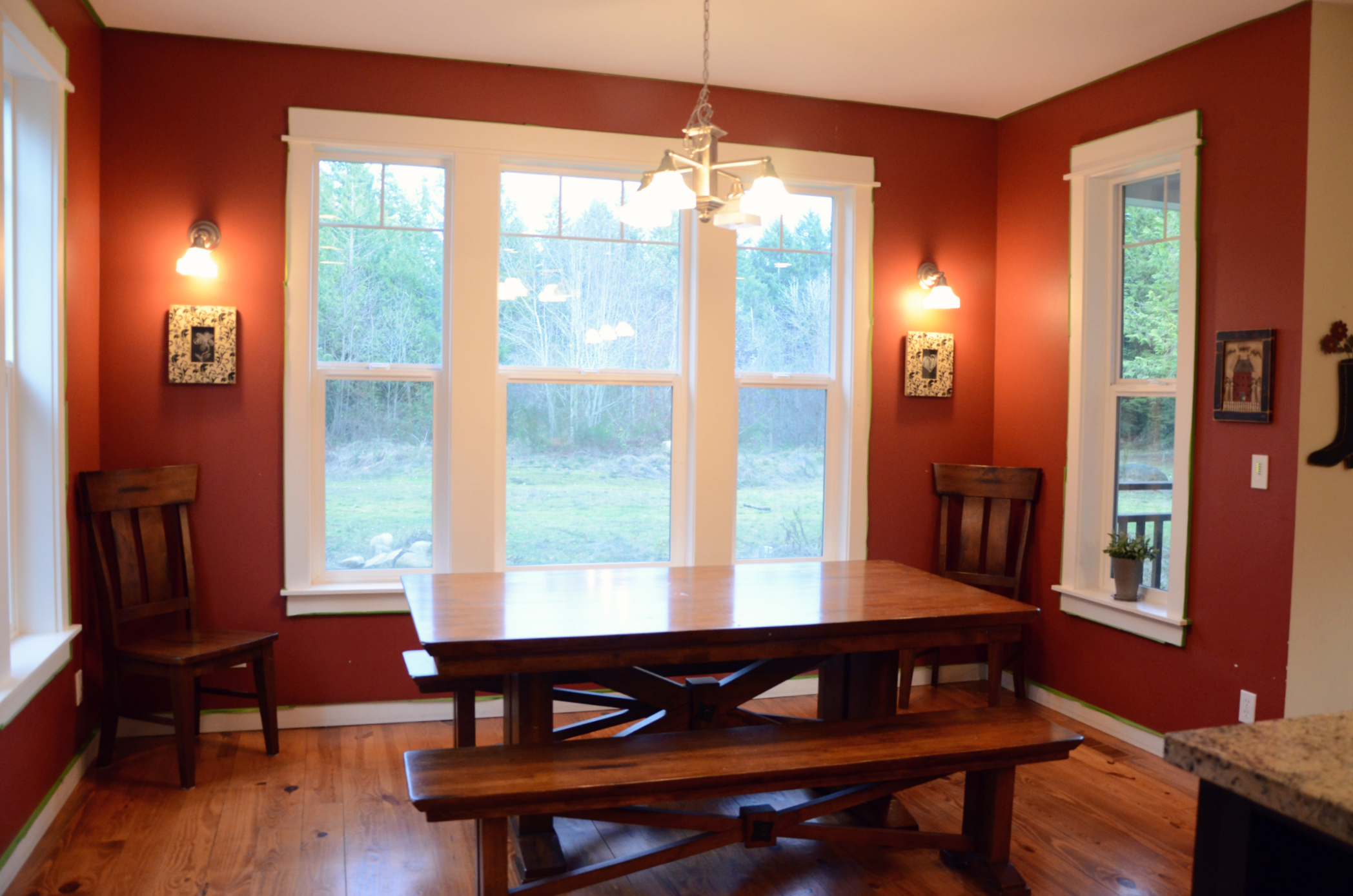 Elegant red dining room wall colors light of dining room - Red dining room color ideas ...