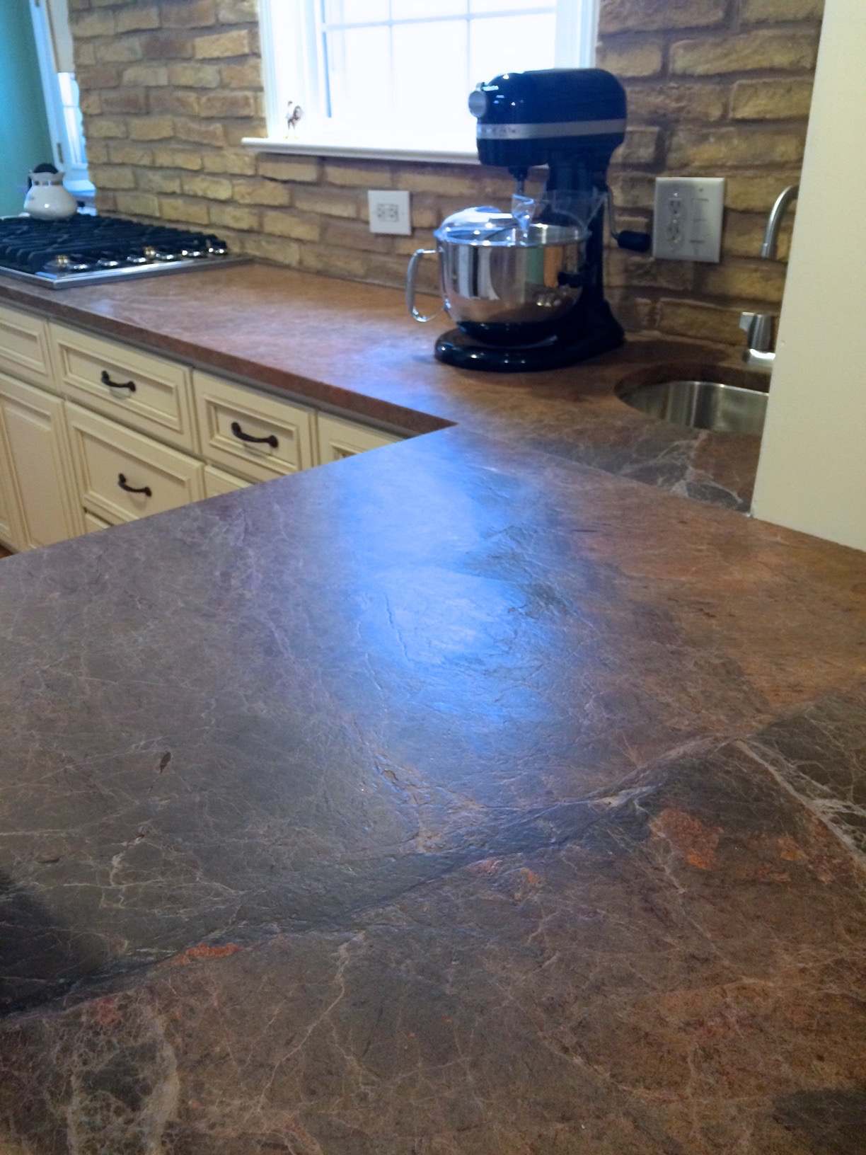 What material are my countertops made of? (granite, laminate, tile ...