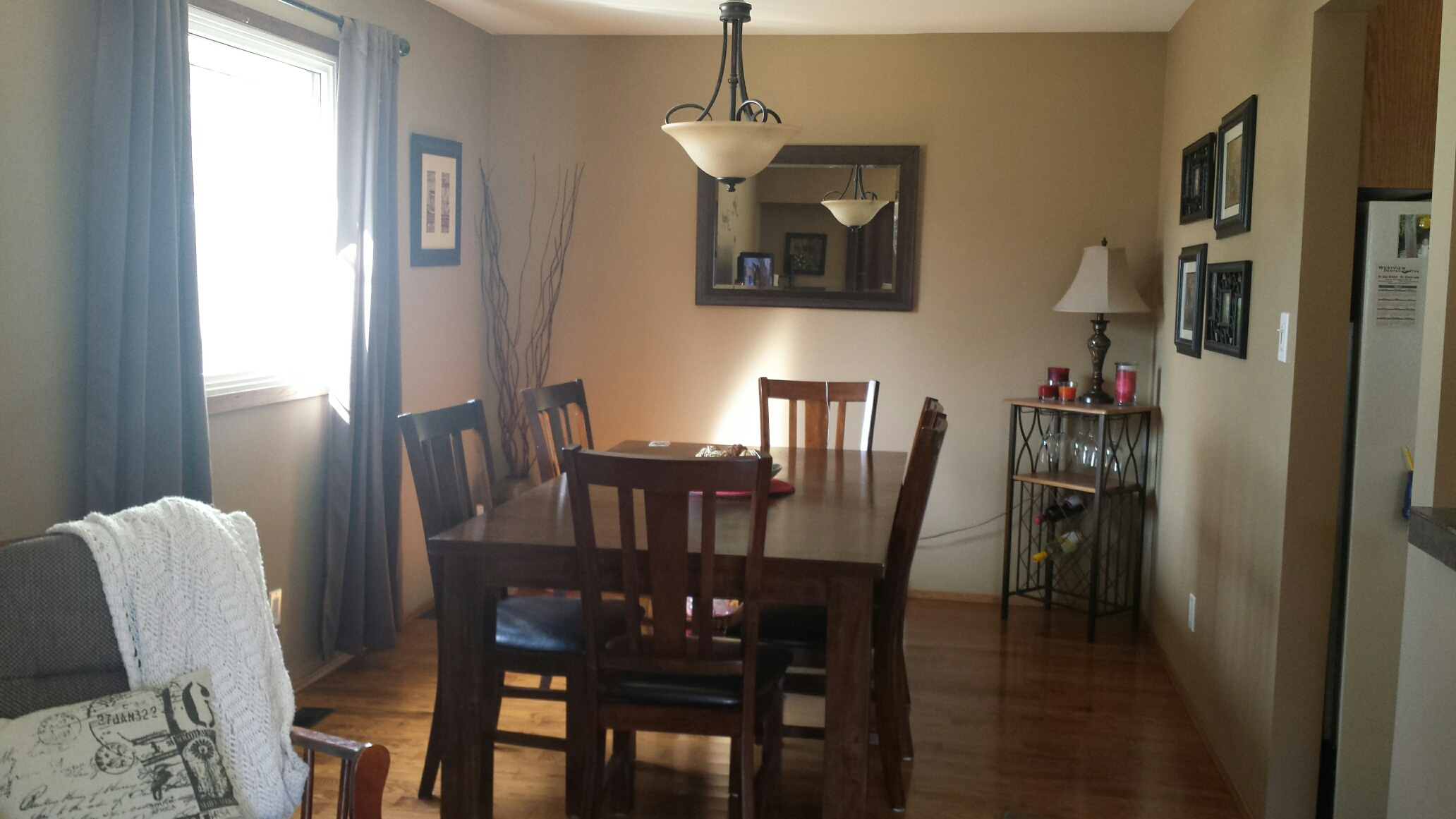 Dining Room HELP Mirror Painting Curtains Colors
