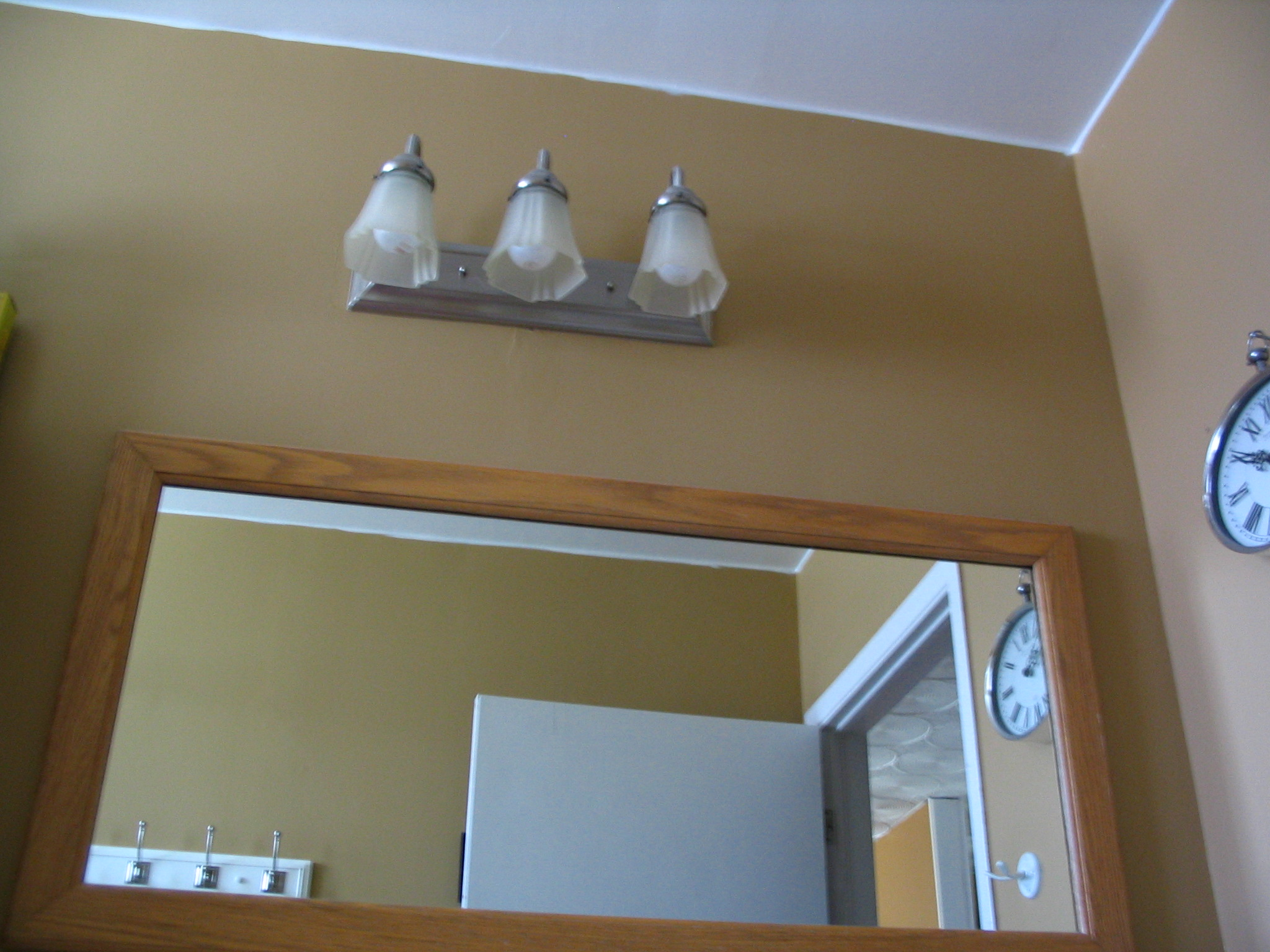 Vanity Lights Off Center : Bathroom Light Fixture Off Center - Bathroom Design