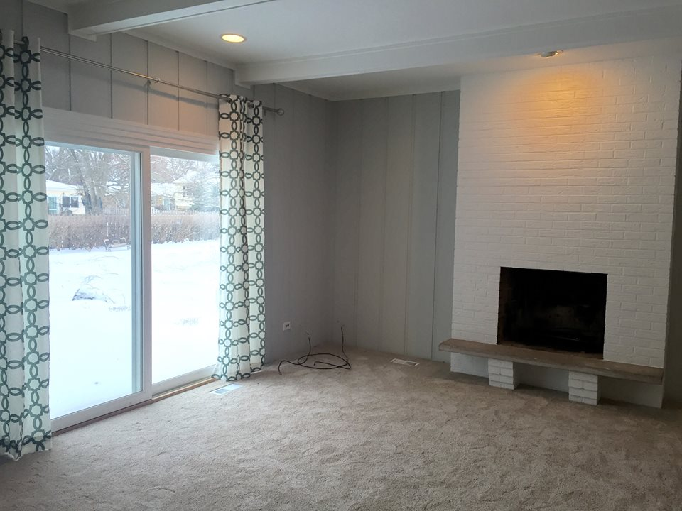 Beautiful Smoothing Textured Walls And Sanding (red Or White  Oak) Woodpanelingcurtains