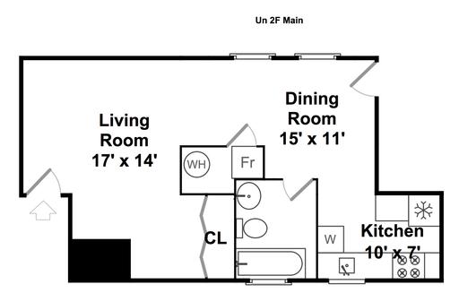 Where to put furniture in potential studio apt? (floor plan, ceiling ...