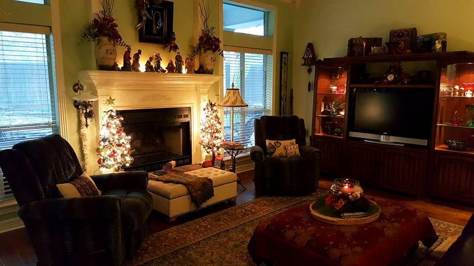 Holiday Decor Mantel Lights Living Room White Home