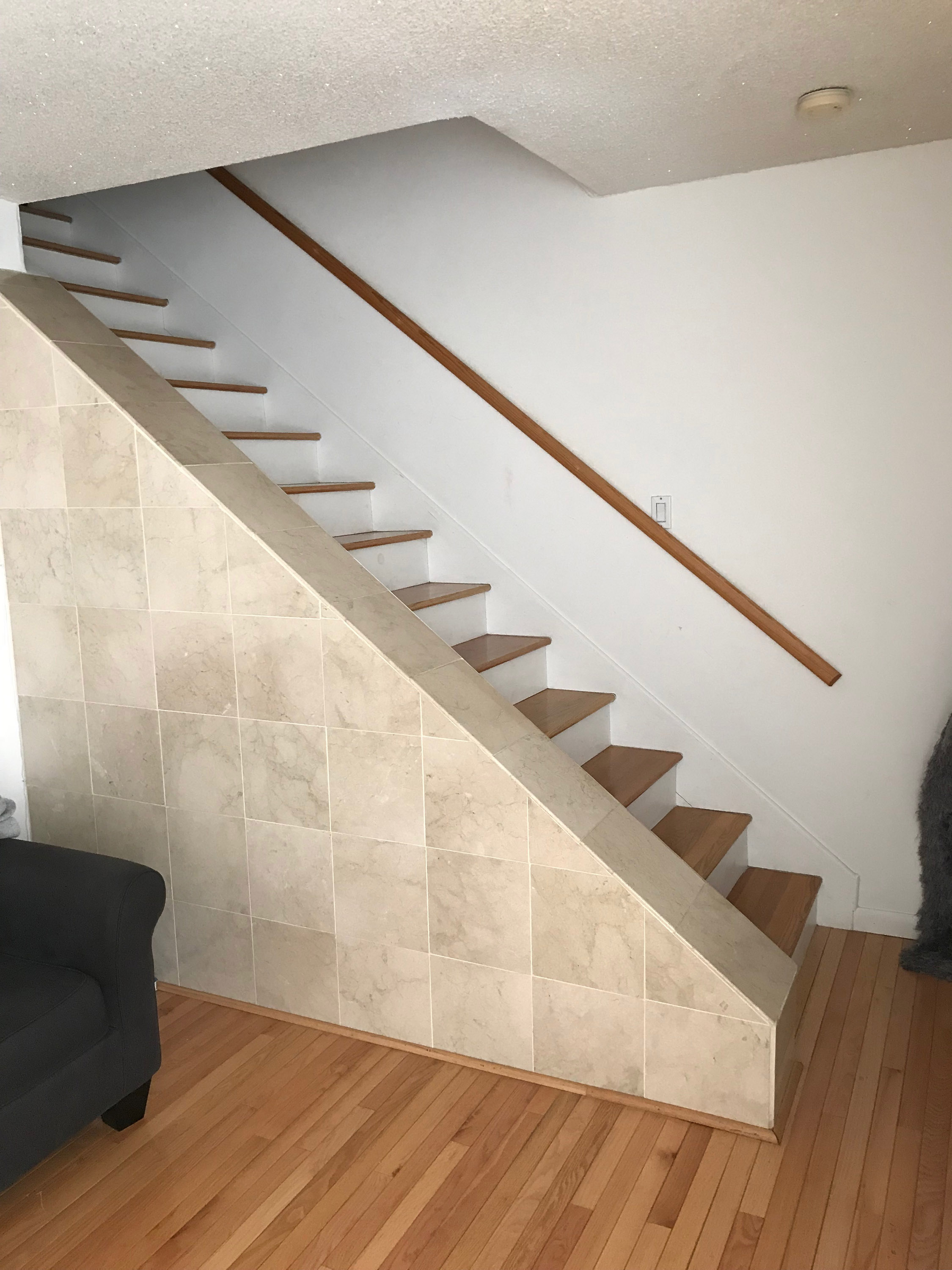 Stair Railing Ideas For This Odd Staircase Img 4877 Jpg