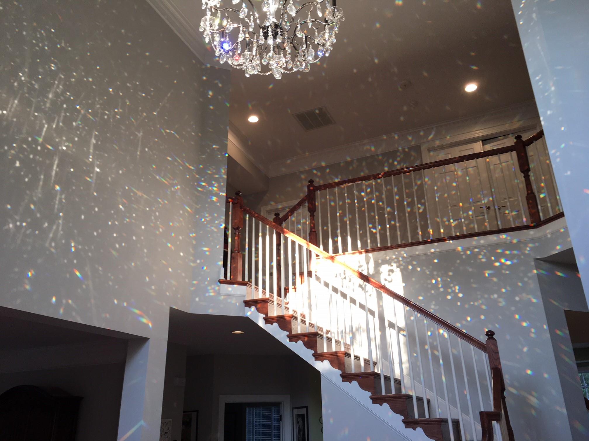 Chandelier For 2 Story Foyer Hallway Ceiling Colors Door