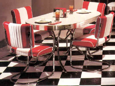 Retro furniture kitchen dining room sofa cost home for 50s style kitchen table