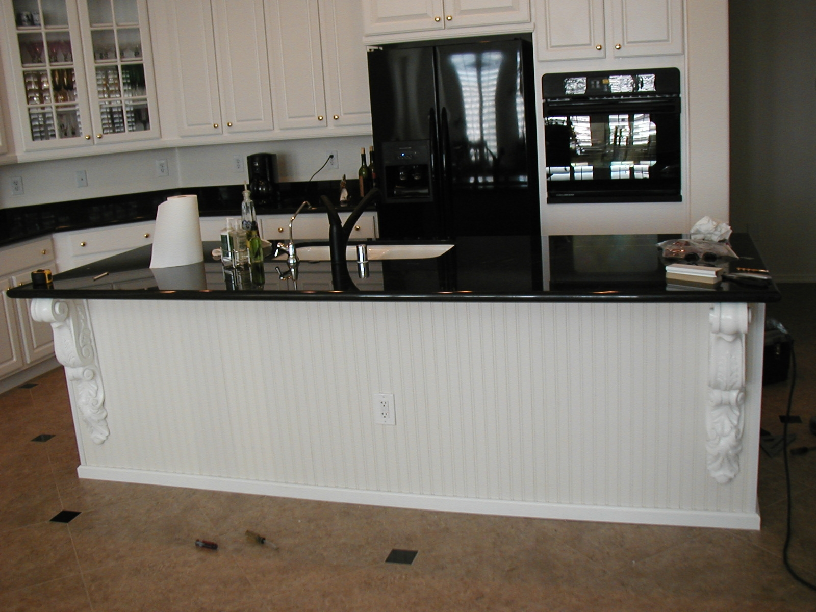 White Galley Kitchen With Black Appliances Perfect Kitchens With Black Appliances And White Cabinets In A