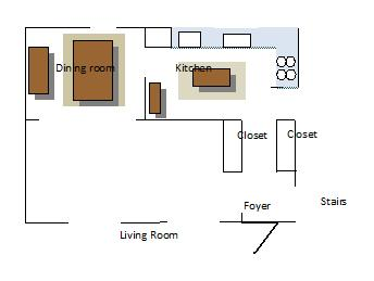 Living Room layout (shutters, gas fireplace, paint, curtains) - Home ...