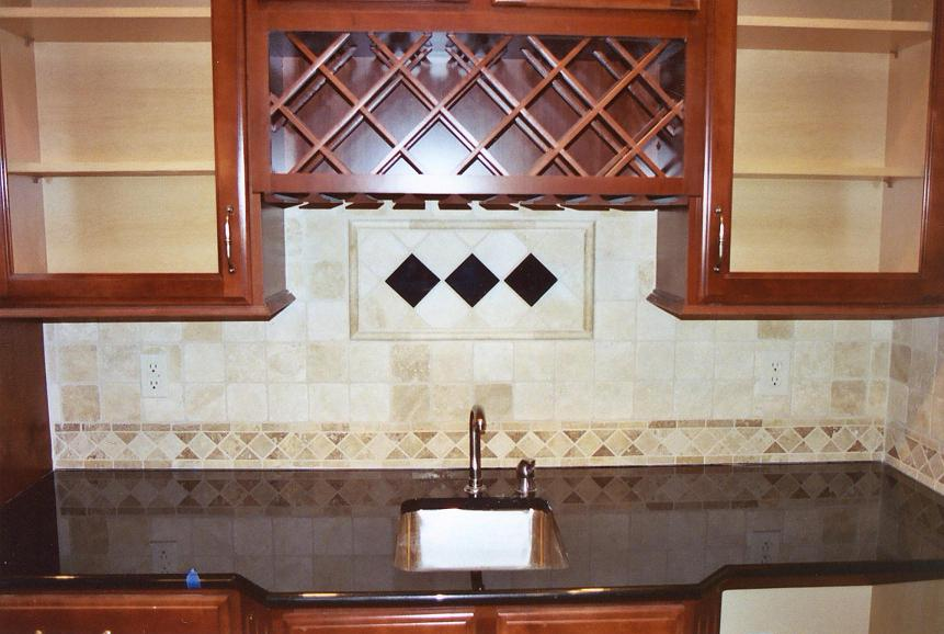 Color Backsplash Tumbled Marble