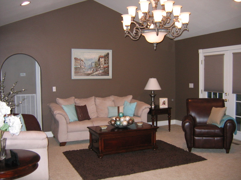 Living room color ideas with brown furniture html Brown wall color living room