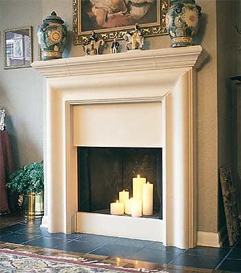How should i decorate this fireplace granite floor for Como hacer una chimenea falsa