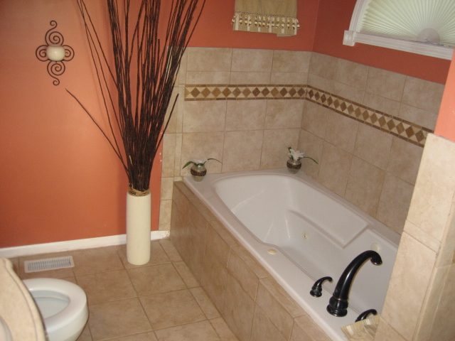 Need your help advise master bath ideas painting tiles sink home interior design and - Installing tile around bathtub ...