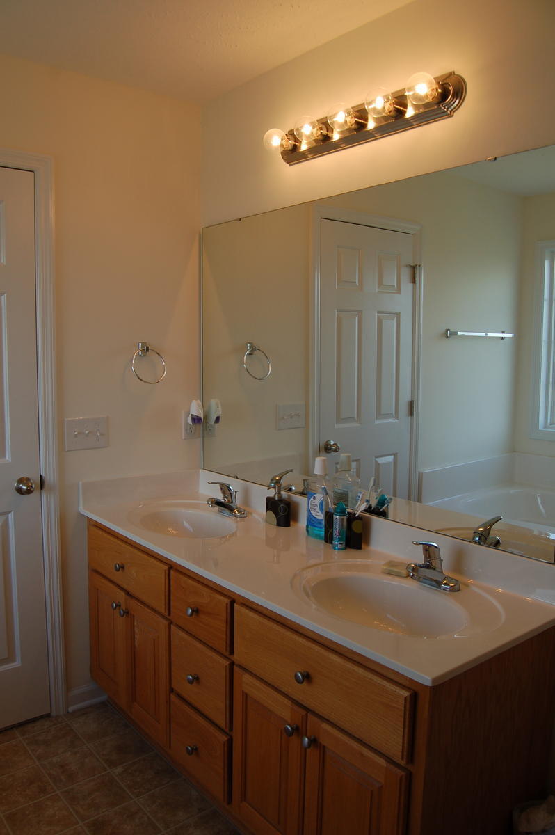 Need your help advise master bath ideas painting tiles for Vanity mirrors for bathroom ideas