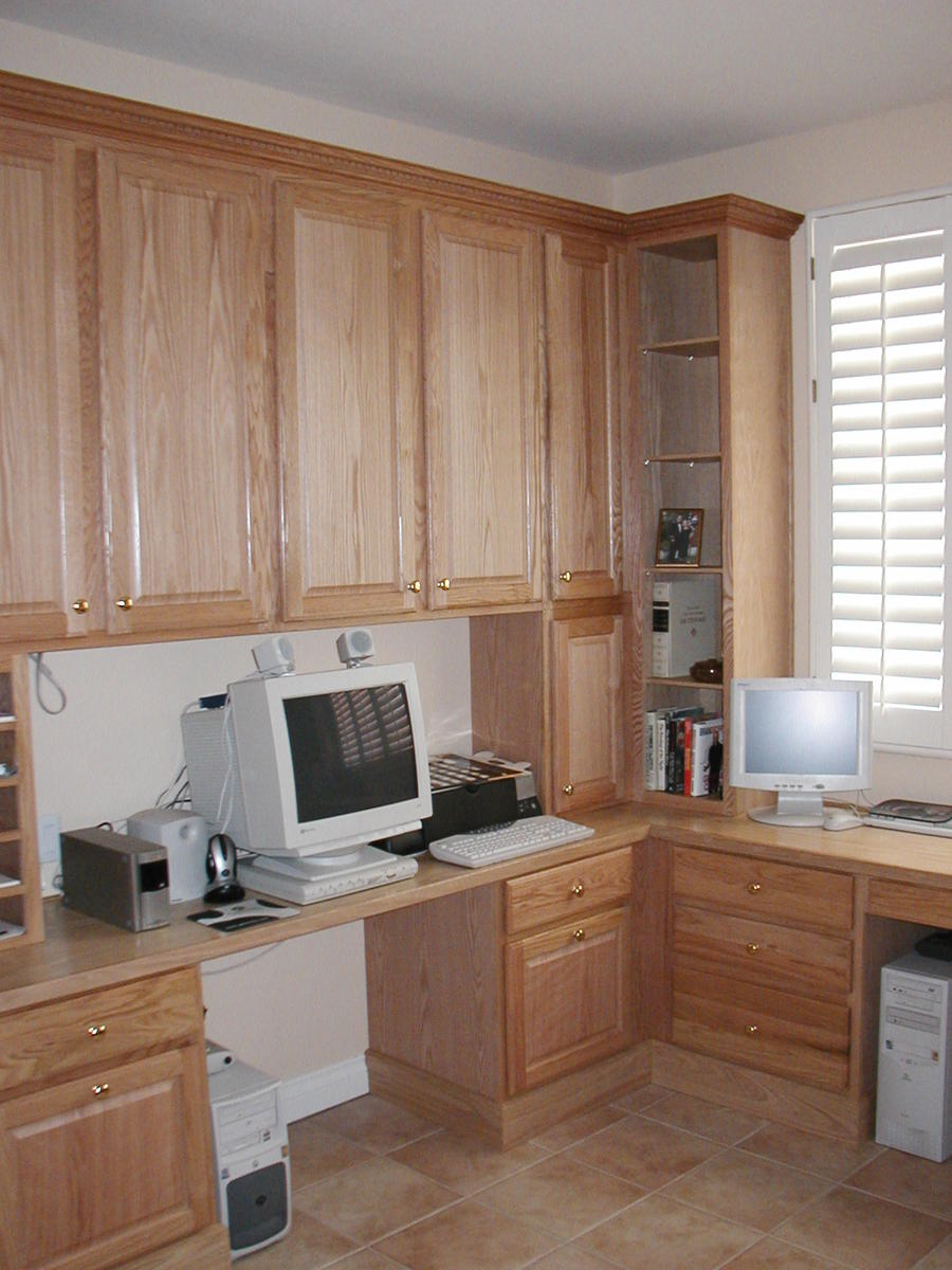 Requesting Opinions  On Built Ins Oak Natural Office 1 ...