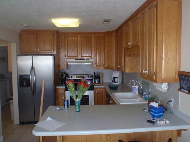 help with oak beach house cabinets and colors (granite, open floor