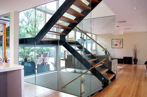 Interior stairs design staircase photos designs living - Home designer stairs with landing ...