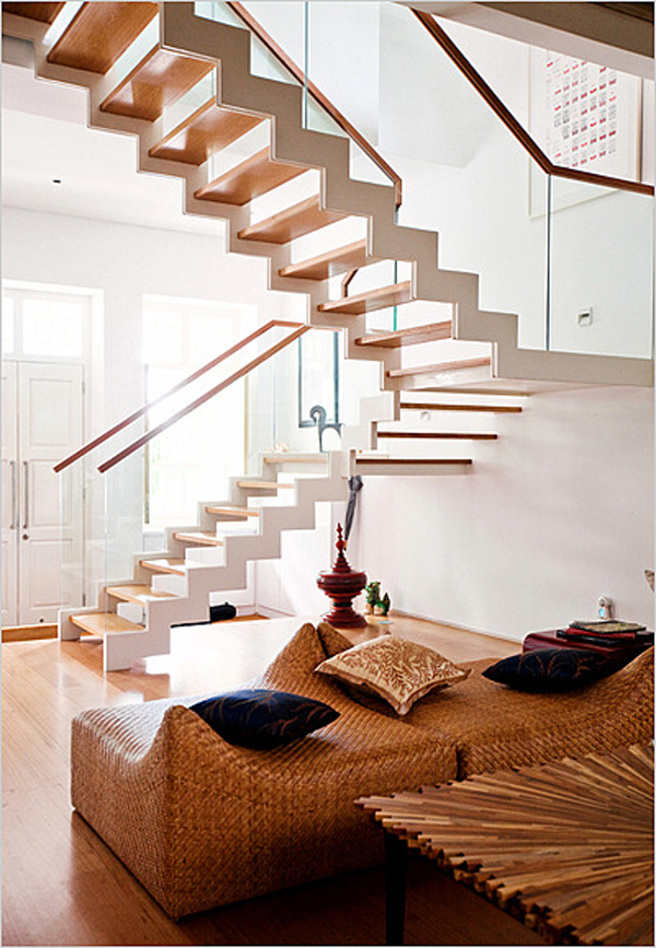 Interior stairs design (staircase, photos, designs, living room ...