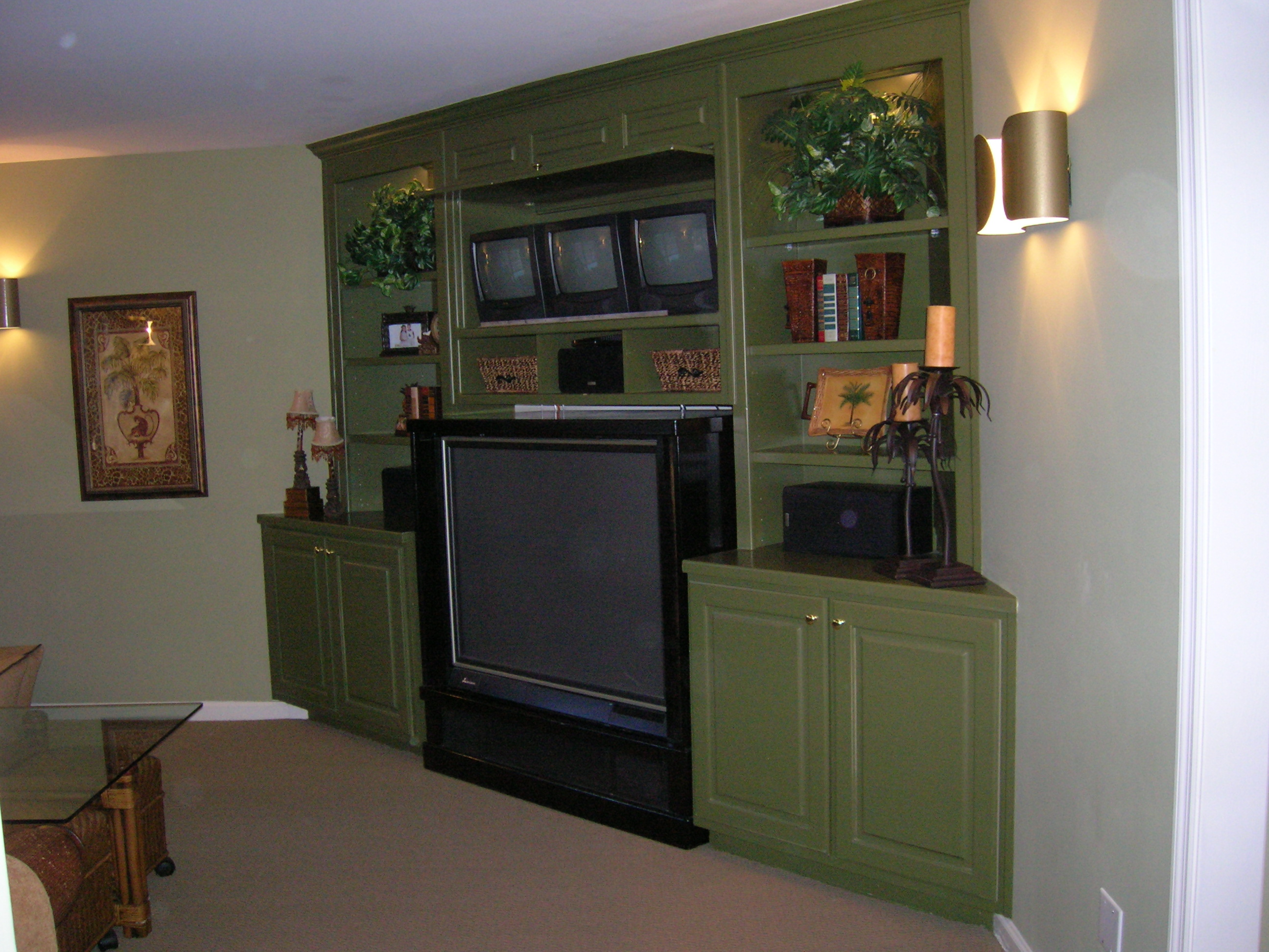 Kitchen Cabinets Entertainment Center building a shelf or entertainment center - advice? (fireplace