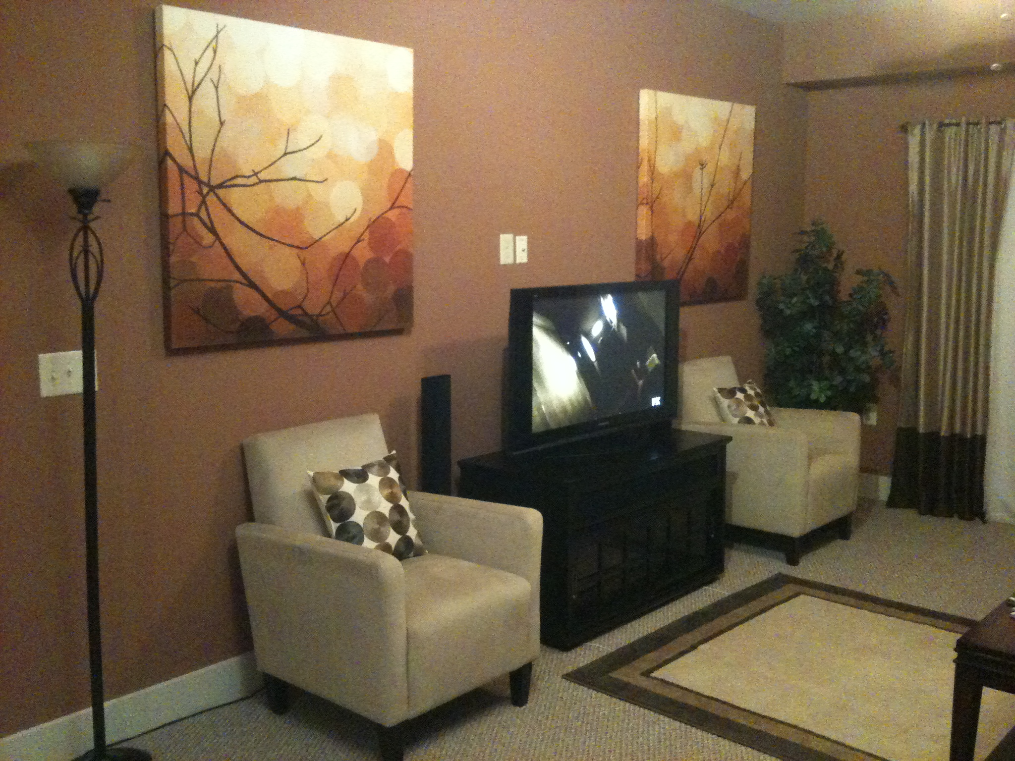 Home design living room paint colors for living room walls for Decorating with neutral walls