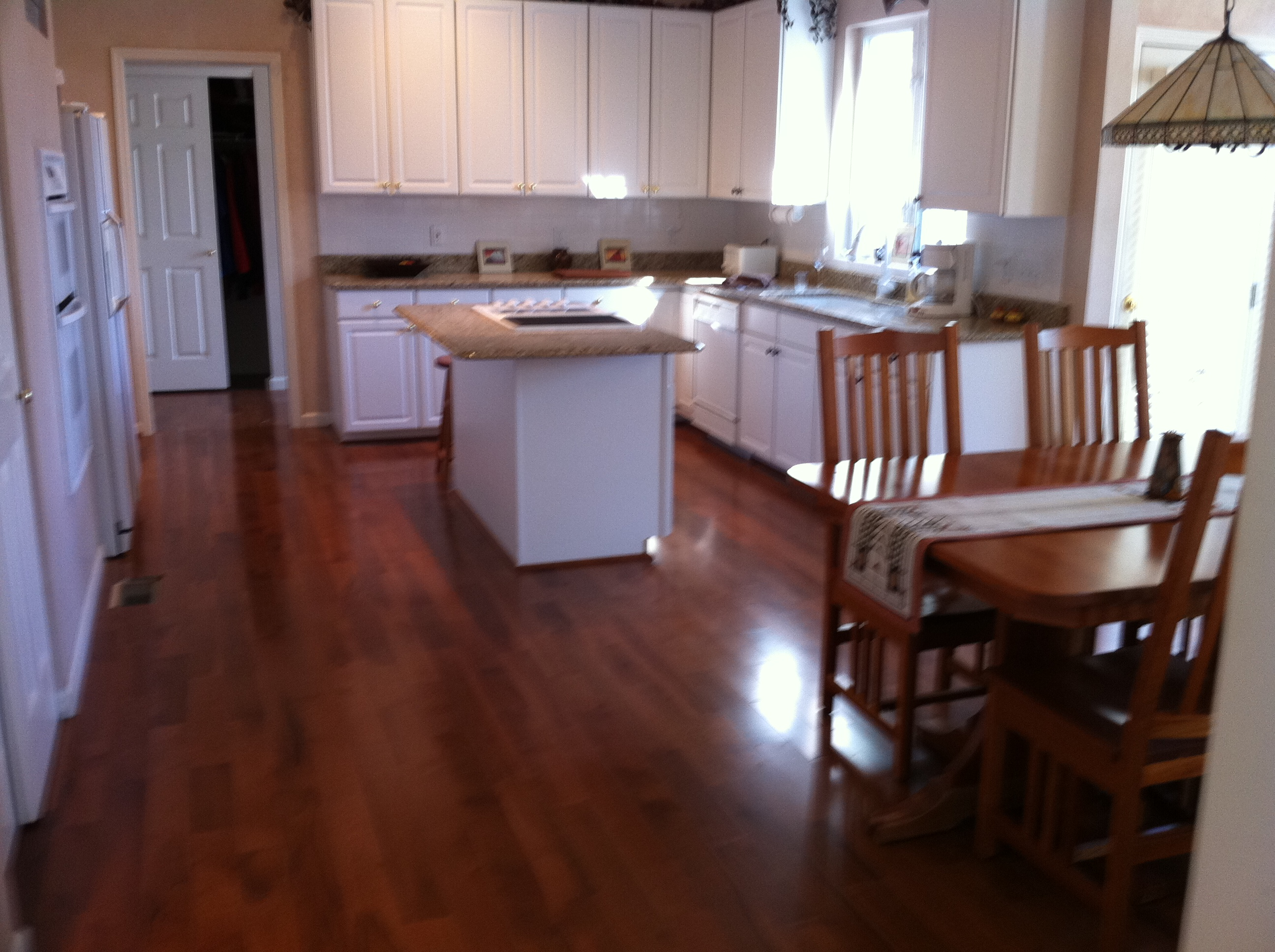 White Cabinets Wood Flooring Kitchen Cabinets Home