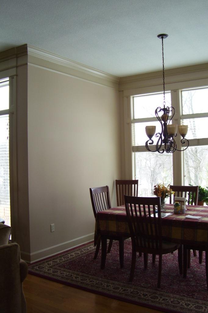 Wall decor ideas needed (open floor plan, paneling, photos, light ...