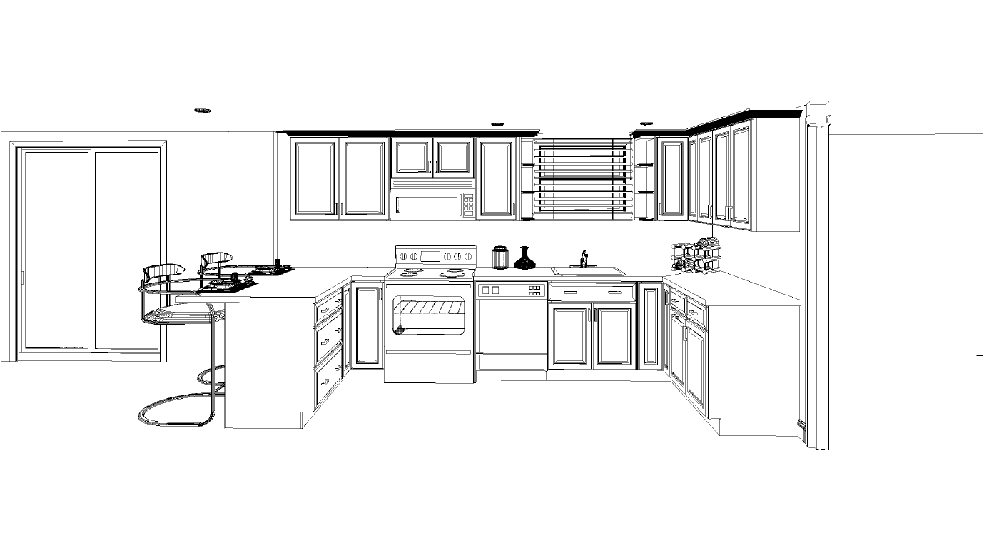 Kitchen layout looking for input countertop sink for Kitchen floor plan layout
