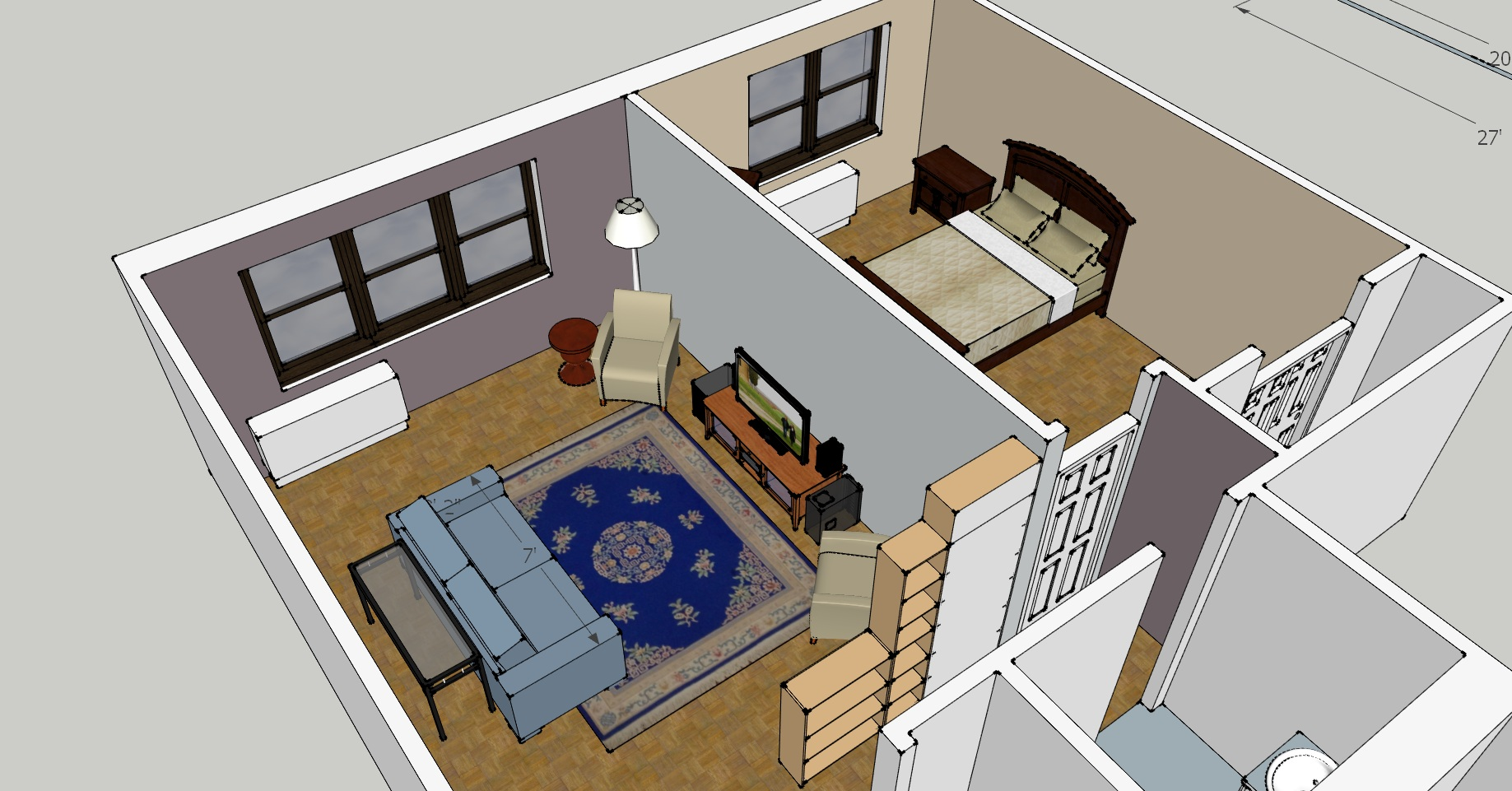 Help what to do with my living room design challenge for Room remodel program