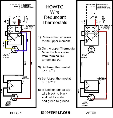 D Reset Water Heater No Hot Water Wire Thermostats on 50 gallon electric water heater wiring diagram