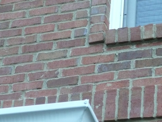 Vertical Crack On Brick Wall (floors, Roof, Foundation