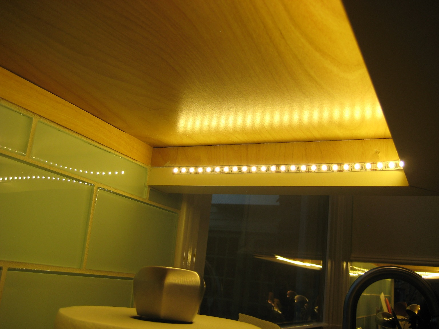 Kitchen under cabinet lighting anyone added house for Kitchen led lighting