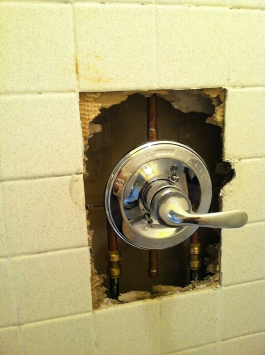Most affordable way to repair this shower? (photo) (tiling, how ...