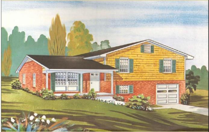 Split level houses share your thoughts floors fireplace for Split level kit homes