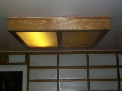 Florescent light box painting ceiling install kitchen house florescent light box imageg workwithnaturefo