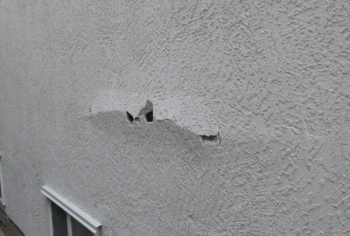 Id This Stucco Damage Caused By Structual Problems Or