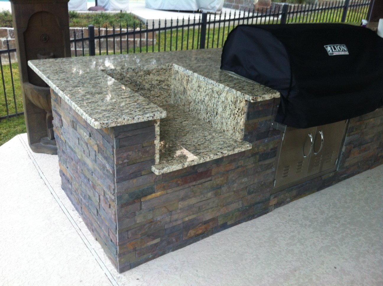 just about done with my outdoor kitchen diy kit4jpg - Diy Outdoor Kitchen