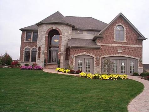 Brick fronts house remodeling decorating construction for Rock and cedar homes
