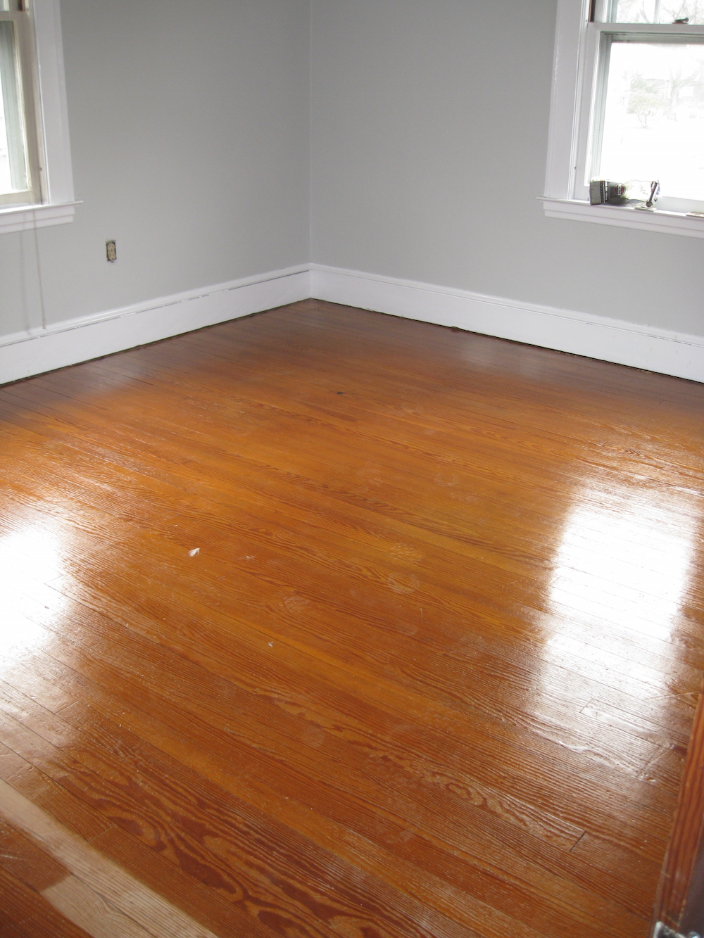 Repairing restoring old wood floor experience hardwood for How to get paint out of wood floors
