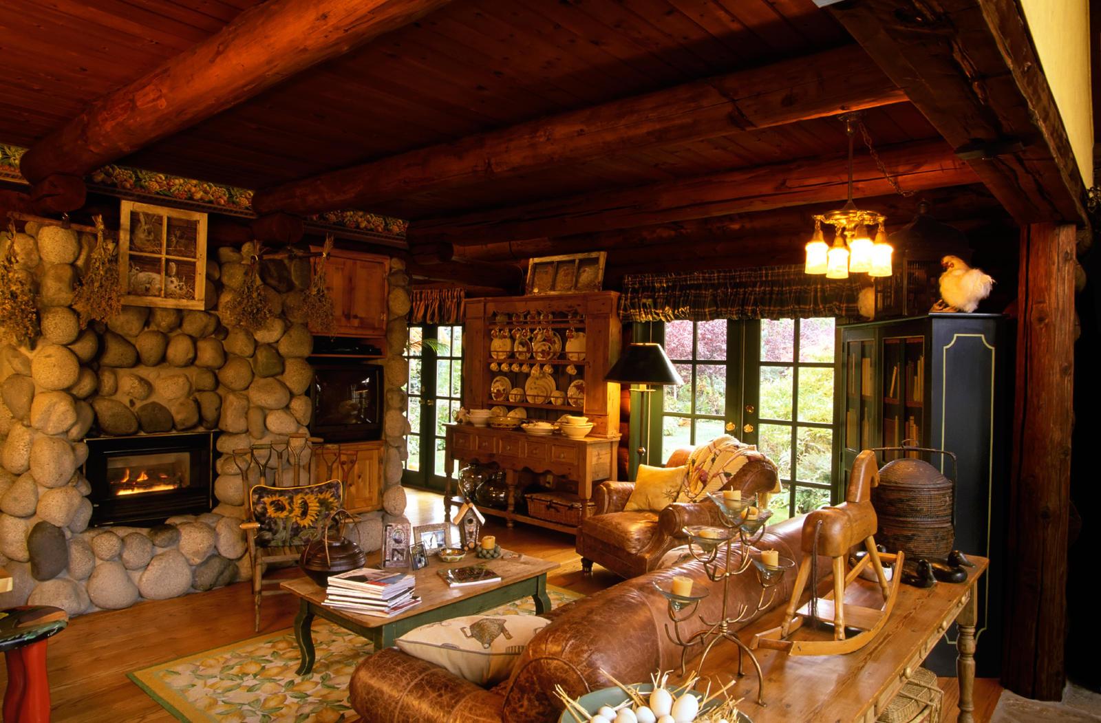 Log Homes   Pros And Cons ? Interior Living Room Log  ...