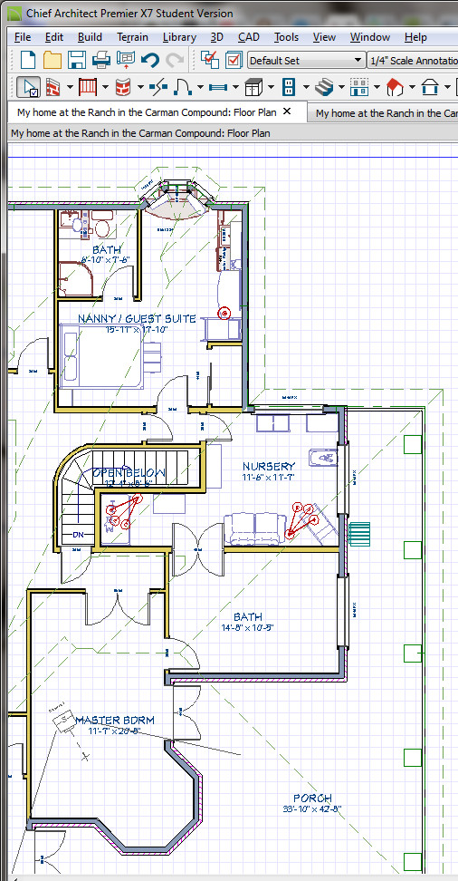 Bedroom off master bedroom floor convert installing for Master bedroom with attached nursery