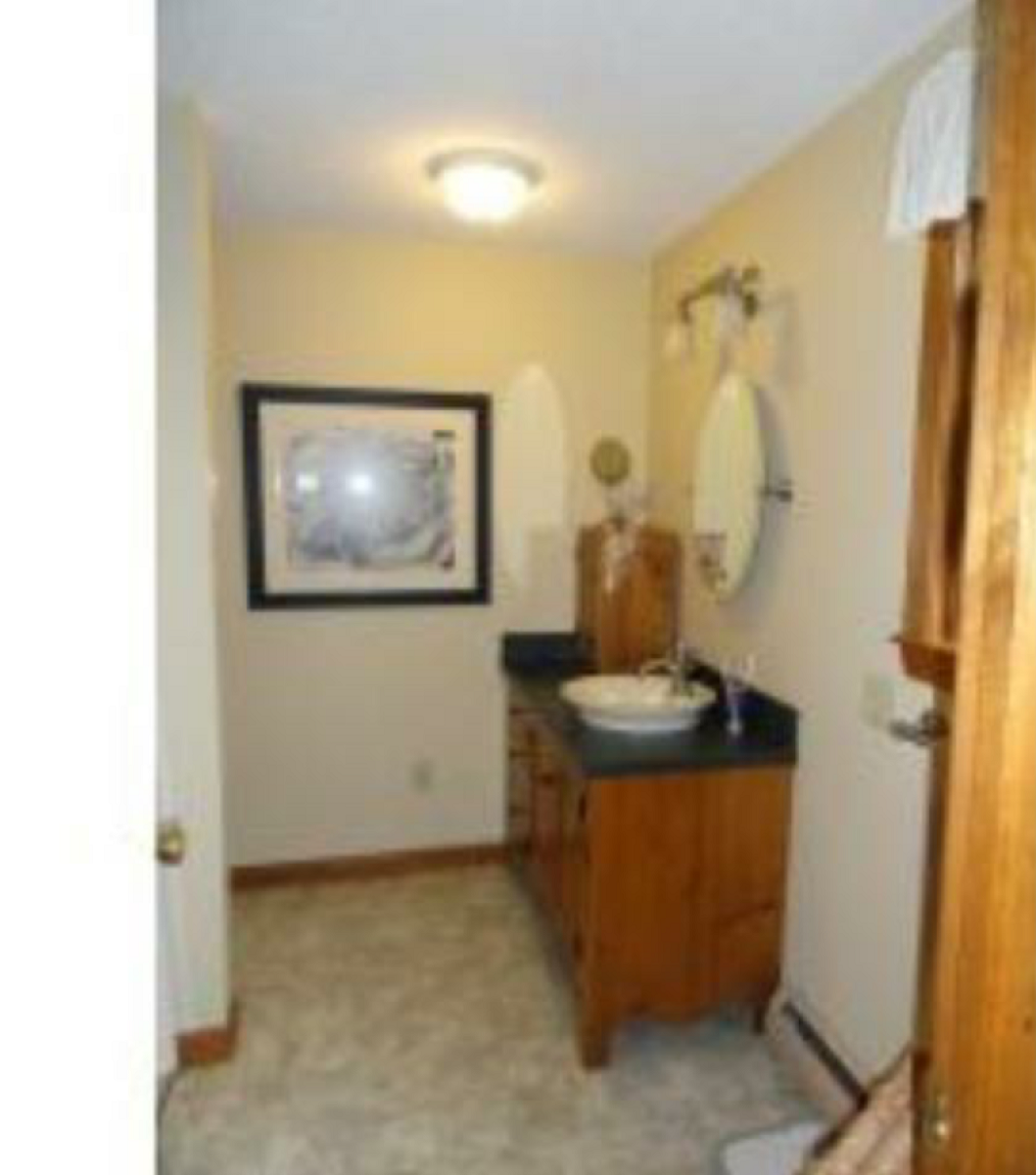 Bathroom remodel - Single Vanity to Double (flooring, vinyl ...