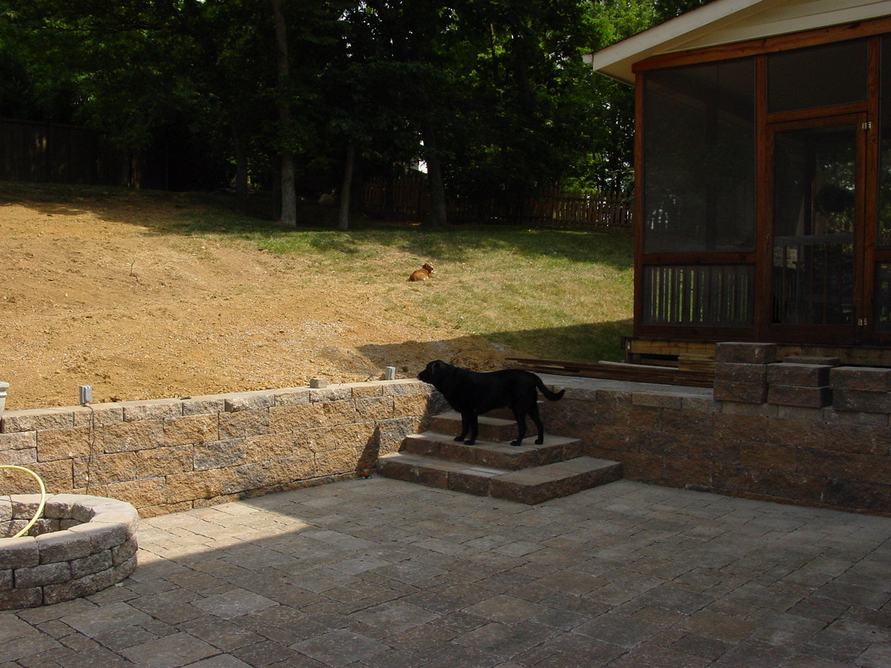 Retaining Wall Backyard Slope : about relandscaping my backyard (building a retaining wall on sloped