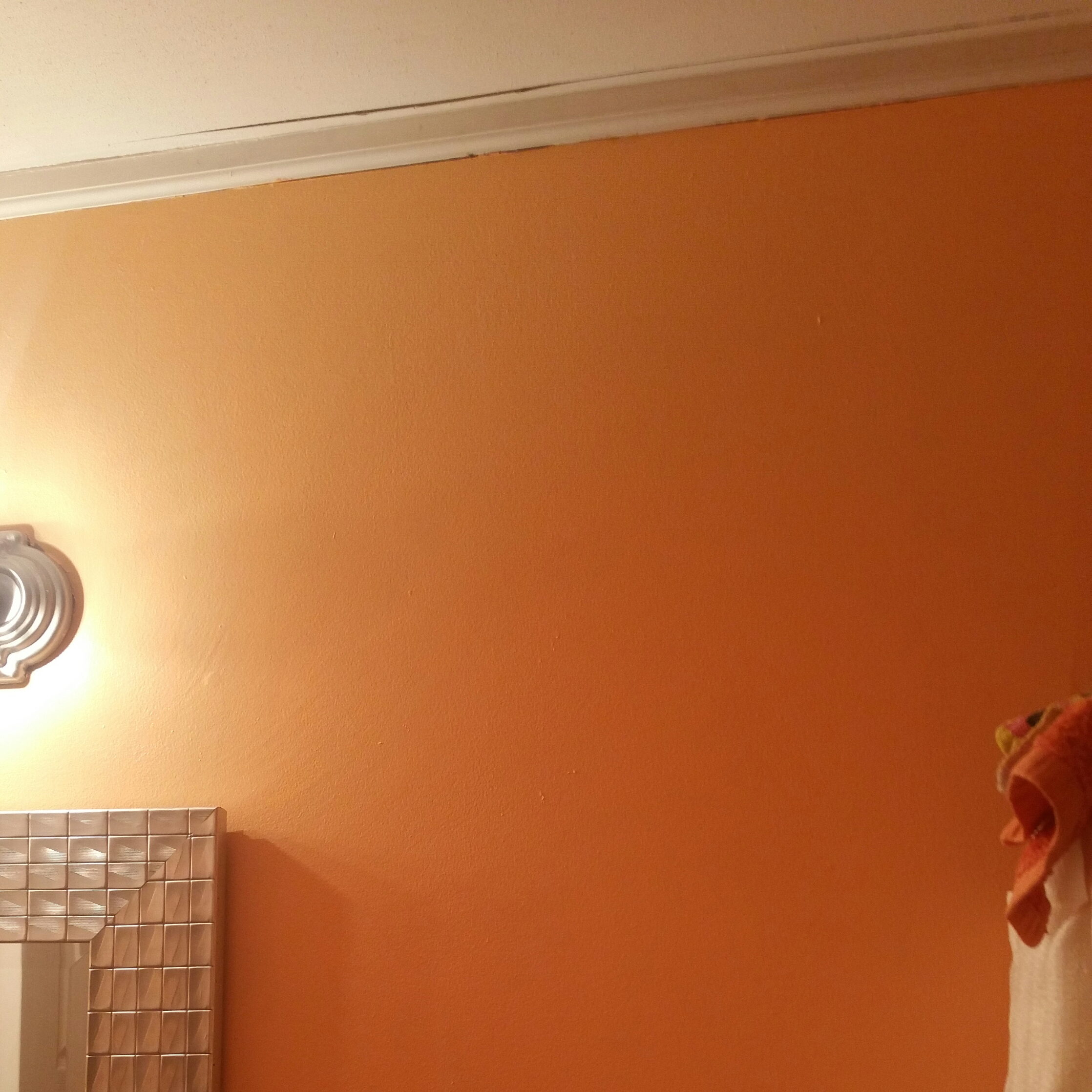 How To Fix Bathroom Ceiling Paint Peeling: Crown Molding Separating From Ceiling